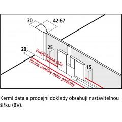 KERMI - FILIA XP / Jednokřídlé kyvné dveře s pevným polem vlevo, do niky (FX1TL11020VPK)
