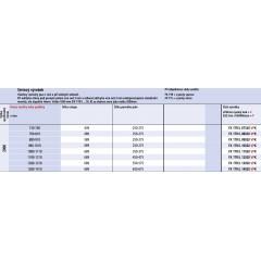 KERMI - FILIA XP / Jednokřídlé kyvné dveře s pevným polem vlevo, do niky (FX1TL12020VPK)