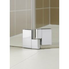 KERMI - FILIA XP / Jednokřídlé kyvné dveře s pevným polem vlevo, pro boční stěnu (FX1WL10020VPK)