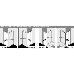 KERMI - FILIA XP / Jednokřídlé kyvné dveře s pevným polem vlevo, pro boční stěnu (FX1WL14320VPK)