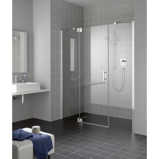 Kermi Kyvné dveře Filia XP 1GR 11020 1060-1110/2000 stříbrná vys.lesk ESG čiré Clean 1-křídlé kyvné dveře s p. poli panty vpravo (FX1GR11020VPK)