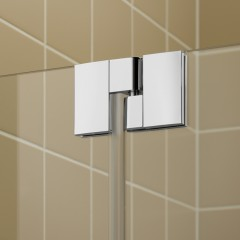 Kermi Kyvné dveře Filia XP 1GR 13020 1260-1310/2000 stříbrná vys.lesk ESG čiré Clean 1-křídlé kyvné dveře s p. poli panty vpravo (FX1GR13020VPK)