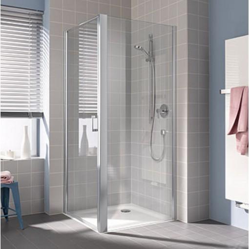 Kermi Boční stěna Cada XS TWD 08520 810-860/2000 stříbrná vys.lesk ESG čiré Clean boční stěna (CCTWD08520VPK)