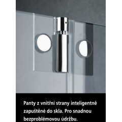 KERMI - Pasa XP / jednokřídlé kyvné dveře s pevným polem vlevo, jen do niky (PX1TL080181AK)