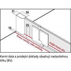 KERMI - Pasa XP / jednokřídlé kyvné dveře s pevným polem vlevo, jen do niky (PX1TL07518VAK)