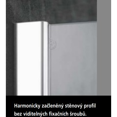 KERMI - Pasa XP / jednokřídlé kyvné dveře s pevným polem vlevo, jen do niky (PX1TL08018VAK)