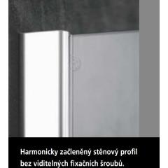 KERMI - Pasa XP / jednokřídlé kyvné dveře s pevným polem vlevo, jen do niky (PX1TL09018VAK)