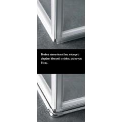 KERMI - Pasa XP / jednokřídlé kyvné dveře s pevným polem vlevo, jen do niky (PX1TL10018VAK)