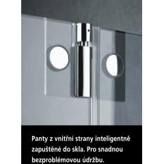 KERMI - Pasa XP / jednokřídlé kyvné dveře s pevným polem vlevo, jen do niky (PX1TL14018VAK)