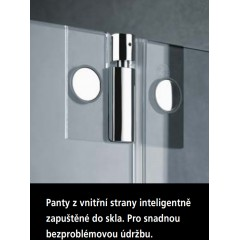 KERMI - Pasa XP / jednokřídlé kyvné dveře s pevným polem vlevo, pro kombinaci s boční stěnou (PX1WL075181AK)