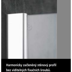 KERMI - Pasa XP / jednokřídlé kyvné dveře s pevným polem vlevo, pro kombinaci s boční stěnou (PX1WL110181AK)