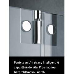 KERMI - Pasa XP / jednokřídlé kyvné dveře s pevným polem vlevo, pro kombinaci s boční stěnou (PX1WL13018VAK)