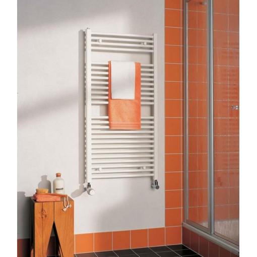 KERMI - LR01M0800402XXK / B-20 RM, koupelnový radiátor zahnutý, se středovým připojením 800x400mm, bílá