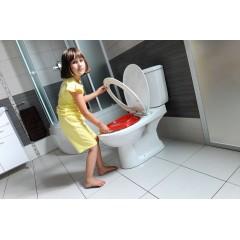 AQUALINE - JUAN WC kombi mísa s nádržkou vč. splachovací soupravy, zadní odpad (FS1PKC77) (LC2154)