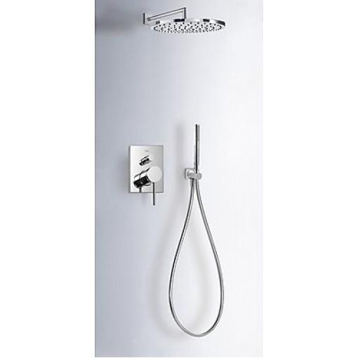 TRES - Sprchová sada podomítková MONO-TERM®s uzávěrem a regulací průtoku. Včetně podomítkového tělesa Pevná sprcha O 300 m (06218003)