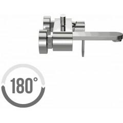 CERSANIT - Vanová baterie se sprchou ELIO jednopáková, nástěnná, s pevným výtokovým ramínkem, s přepínačem, CHROM (S951-007)