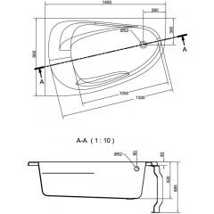 CERSANIT - VANA JOANNA NEW LEVÁ 140X90 cm (S301-165)
