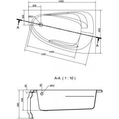 CERSANIT - VANA JOANNA NEW PRAVÁ 140X90 cm (S301-166)