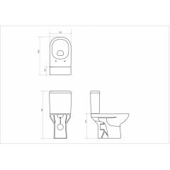 OPOCZNO - WC KOMBI 451 STREET FUSION CLEANON 011 3/6 BEZ SEDÁTKA (OK579-011)