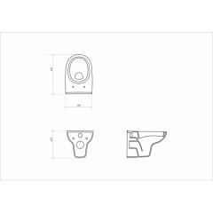 OPOCZNO - ZÁVĚSNÁ MÍSA STREET FUSION CLEANON BEZ SEDÁTKA (OK579-001-BOX)