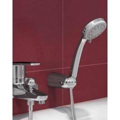 CERSANIT - Sprchová souprava s bodovým držákem MODI, 3 funkční, průměr ruční sprchy 8,5cm, kovová hadice dlouhá 150cm, s bodovým držákem a montážní sadou (S951-023)