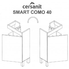 CERSANIT - SKŘÍŇKA POD UMYVADLO SMART COMO 40 BÍLÁ (S568-022)