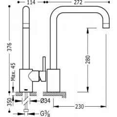 TRES - Jednopáková dřezová kuchyňská baterie (162441)