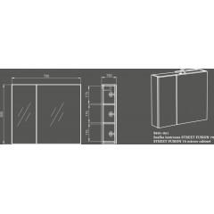 OPOCZNO - SET 486 STREET FUSION 70 (ZRCADLOVÁ SKŘÍŇKA + OSVĚTLENÍ 30) [VIRTUAL] (S801-061)
