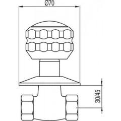 """TRES - Uzavírací ventilk zašroubování 1/2"""" (13315510F)"""
