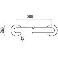 TRES - Vanová rukojeť306 mm. (134184)