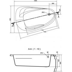 CERSANIT - VANA JOANNA NEW LEVÁ 150X95 cm (S301-167)