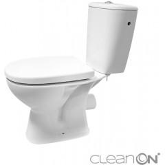 CERSANIT - WC KOMBI 613 ARTECO 010 3/5 NEW CLEANON + DUROPLAST SEDÁTKO SOFTCLOSE (K667-052)