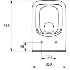 CERSANIT - Závěsné WC COMO NEW CLEANON BEZ SEDÁTKA (K32-020)