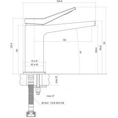 CERSANIT - Umyvadlová baterie CROMO jednopáková, jednootvorová, stojánková, s pevným výtokovým ramínkem, CHROM, s výpustí kovovou (S951-050)