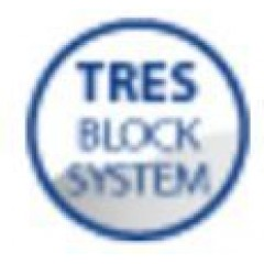 TRES - Termostatický podomítkový sprchový set BLOCK SYSTEMs uzávěrem a regulací průtoku (2-cestná). Včetně podomítkového ter (20635201AC)
