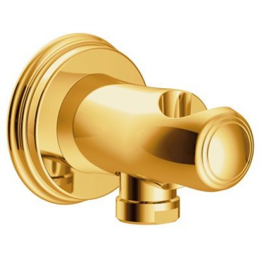 TRES - Úchyt ruční sprchy se stěnovou přípojkou vodys nástěnným vodnim přívodem (24218201OR)