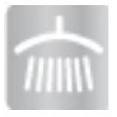TRES - Souprava termostatické sprchové baterie Pevná sprcha O 310 mm. s kloubem. Sprcha, proti usaz. vod. kamene O 78 mm. (24219502AC)