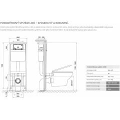 Nádržka + WC + sedátko + tlačítko /K97-108+S97-026+K588-003+K98-0007/ (SET/0001)