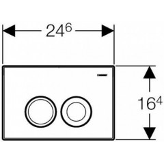 GEBERIT - SET Duofix Sada pro závěsné WC 458.103.00.1 + tlačítko DELTA21 bílé + klozet a sedátko CERSANIT MITO (458.103.00.1 21BI MI1)