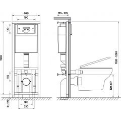 CERSANIT - Nádržka LINK + WC CASPIA CLEANON + SEDÁTKO (K97-108 CP1)