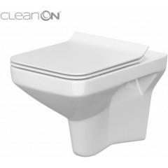 LAUFEN - Podomít. systém LIS TW1 SET + ovládací tlačítko CHROM + WC CERSANIT COMO CLEANON + SEDÁTKO (H8946630000001CR CO1)