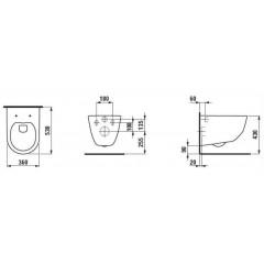 LAUFEN Podomít. systém LIS TW1 SET s chromovým tlačítkem + WC LAUFEN PRO LCC RIMLESS + SEDÁTKO (H8946630000001CR LP2)