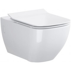 LAUFEN - Podomít. systém LIS TW1 SET + ovládací tlačítko CHROM + WC OPOCZNO METROPOLITAN CLEANON + SEDÁTKO (H8946630000001CR ME1)