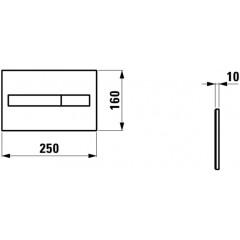 LAUFEN - Rámový podomítkový modul CW1 SET + ovládací tlačítko CHROM + WC CERSANIT CREA ČTVEREC CLEANON + SEDÁTKO (H8946600000001CR CR2)