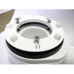 SAPHO - Vaničkový sifon, průměr otvoru 90 mm, DN40, nízký, krytka chrom (EWCN940)