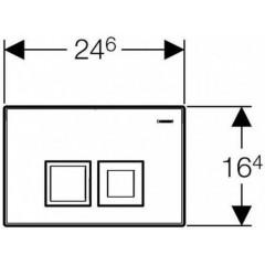 GEBERIT - SET Duofix Sada pro závěsné WC 458.103.00.1 + tlačítko DELTA50 CHROM + WC ARES + SEDÁTKO (458.103.00.1 50CR AR1)