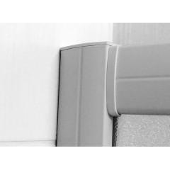 MEREO - Sprchový kout, Kora, čtvrtkruh, 80 cm, R550, bílý ALU, sklo Grape (CK35111H) - poškozený obal