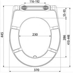 Alcaplast WC sedátko A604 bílé Duroplast se zpomalením softclose A604 (A604)
