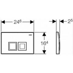 GEBERIT - SET KOMBIFIXBasic včetně ovládacího tlačítka DELTA 50 Bílé pro závěsné WC CERSANIT ARES + SEDÁTKO (110.100.00.1 50BI AR1)