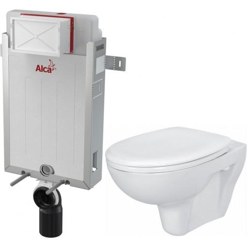 ALCAPLAST - Renovmodul - předstěnový instalační systém + WC CERSANIT PRESIDENT + SEDÁTKO (AM115/1000 X PR1)